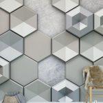 Tapete Hexagon Concrete Tapetenagenturde Tapeten Schlafzimmer Für Küche Wohnzimmer Ideen Fototapeten Die Wohnzimmer 3d Tapeten