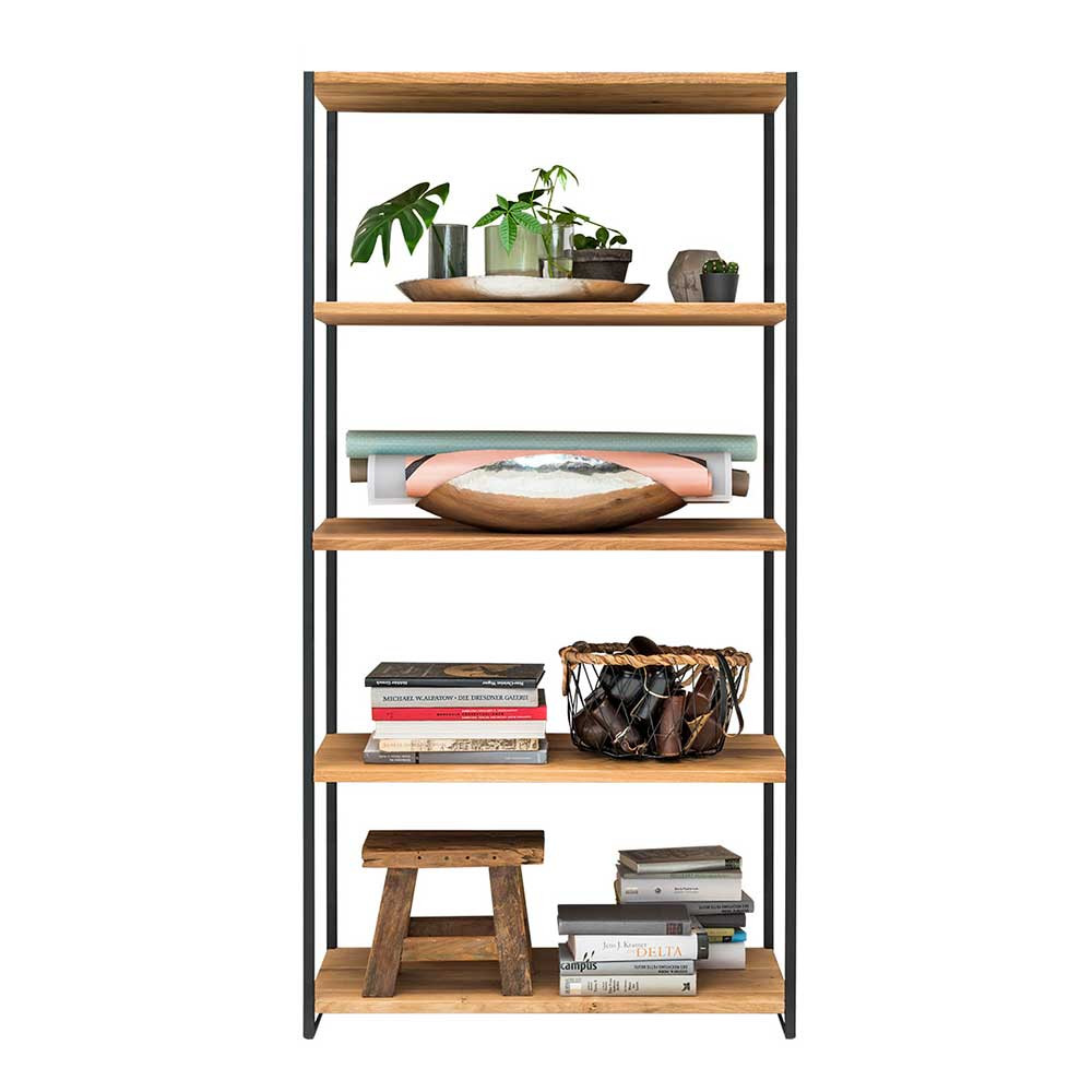 Full Size of Regal 80 Cm Hoch Dairos Aus Wildeiche Massivholz Und Stahl 160 Offenes 60 Tief Kleines Kleiderschrank Tv Regale Berlin Glasböden Kinderzimmer Amazon Betten Regal Regal 80 Cm Hoch