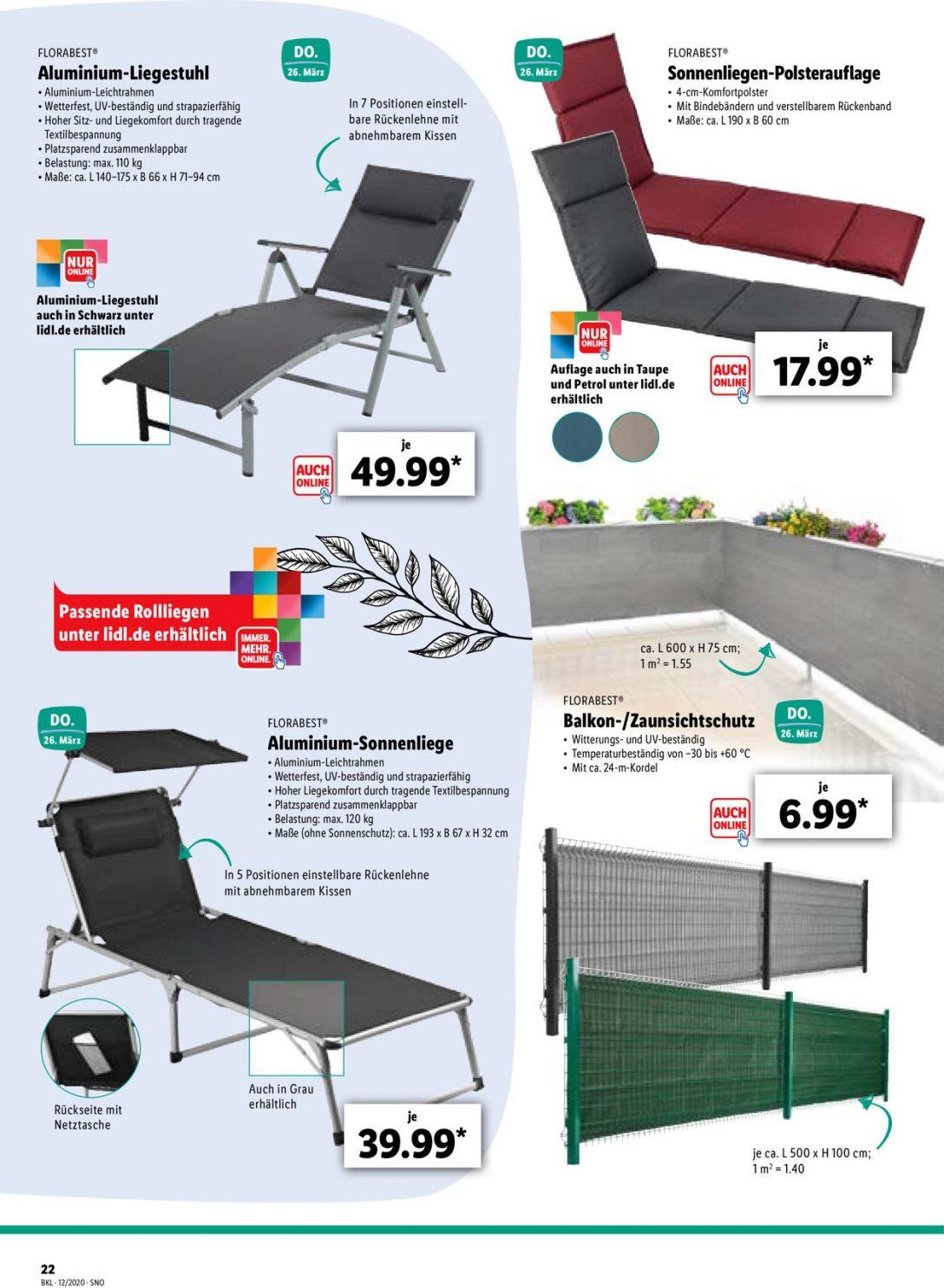 Large Size of Liegestuhl Aldi Lidl Aktueller Prospekt 2303 31032020 22 Jedewoche Rabattede Garten Relaxsessel Wohnzimmer Liegestuhl Aldi
