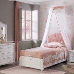Stauraumbett 100x200 Mdchen Romantic Online Kaufen Furnart Bett Mädchen Betten Wohnzimmer Kinderbett Mädchen