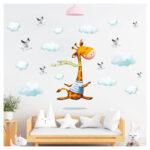 Wandbild Kinderzimmer Kinderzimmer Wandbild Kinderzimmer Wandtattoo Giraffe Wolken Wanddeko Wandbilder Schlafzimmer Regal Sofa Wohnzimmer Regale Weiß