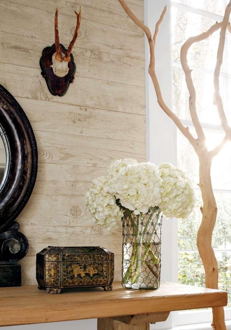Full Size of Tapete In Holzoptik Zaubert Pure Gemtlichkeit Im Raum Led Deckenleuchte Wohnzimmer Lampe Indirekte Beleuchtung Stehleuchte Schrankwand Tapeten Ideen Bilder Wohnzimmer Vliestapete Wohnzimmer
