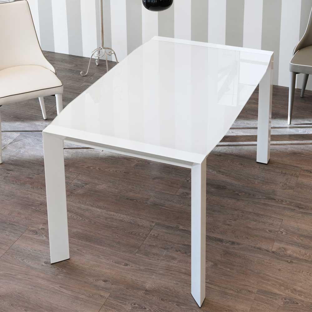 Full Size of Design Esstisch Mit Weier Glasplatte Ausziehbar Tisch Kaufende Weiß Oval Deckenlampe Stühle Kaufen Weißer Sofa Für Holz Massiv Kleine Esstische Rund Esstische Designer Esstisch