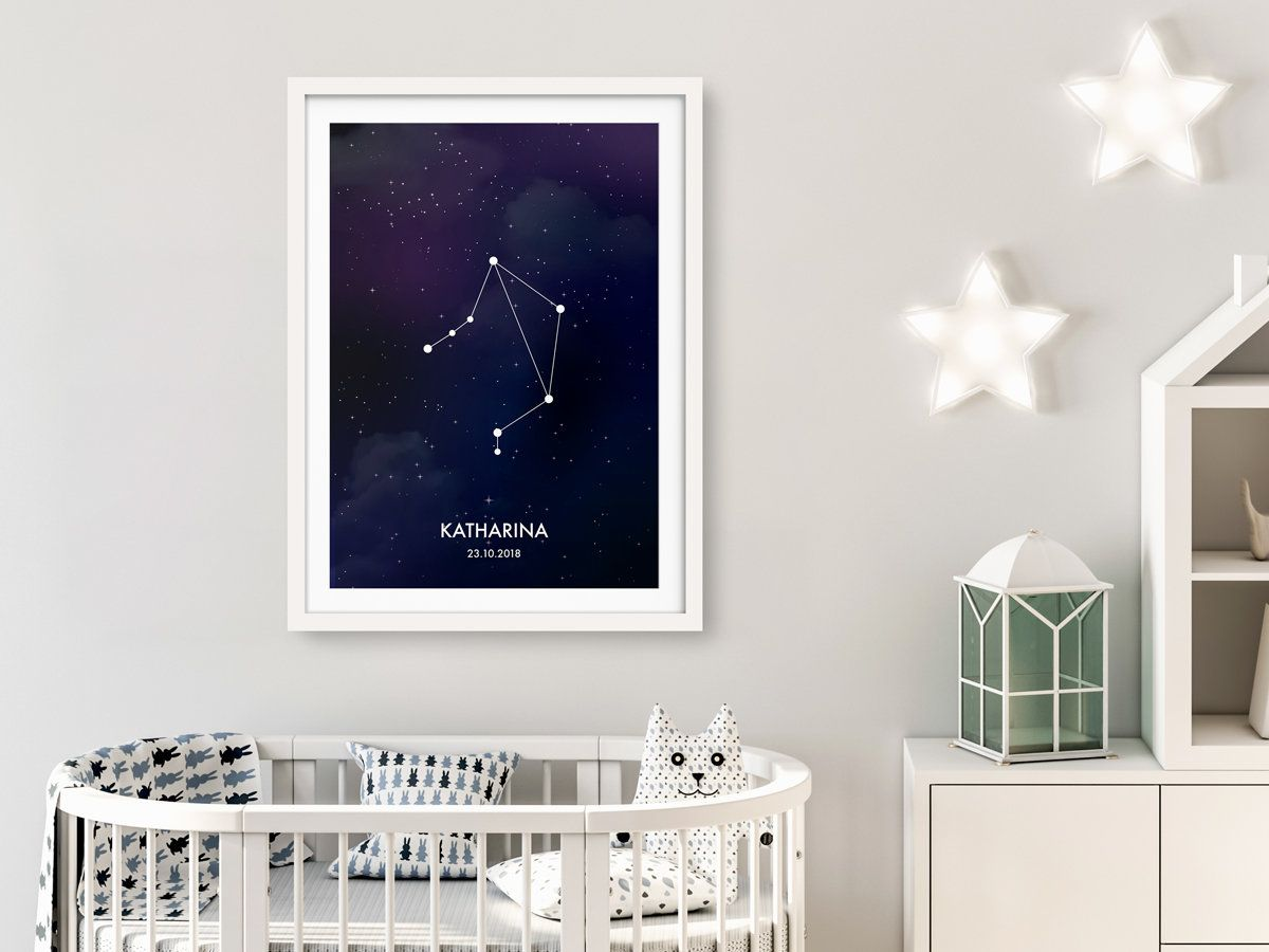 Full Size of Sternzeichen Waage Poster Personalisierbar Sofa Kinderzimmer Regal Regale Weiß Kinderzimmer Sternenhimmel Kinderzimmer