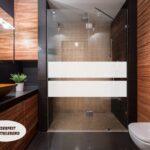 Dusche Wand Aufkleber Glasdekor Sichtschutz 022b 2 Streifen Folie Bad Einhebelmischer Wandtattoo Schlafzimmer Sprüche Begehbare Wandbilder Wandfliesen Dusche Dusche Wand