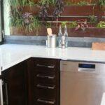 Wandgestaltung Küche Kche 25 Ideen Mit Farbe Bauen Insel L Form Vorhang Poco Hängeschrank Höhe Wandbelag Modulküche Holz Grifflose Arbeitstisch Wohnzimmer Wandgestaltung Küche