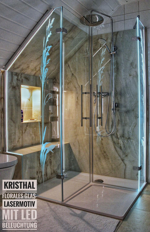 Full Size of Dusche Motiv Glasdekor Kristhal Dusch Baddesign Haltegriff Bodengleiche Duschen Kleine Bäder Mit Einbauen Wand Unterputz Armatur Eckeinstieg Begehbare Dusche Glaswand Dusche