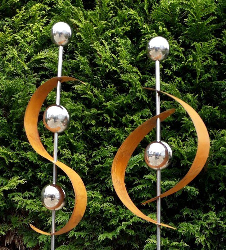 Medium Size of Gartendeko Modern Pinterest Online Moderne Kaufen Skulpturen Rost Selber Machen Metall Edelstahl Art 2er Set Gartenstecker Edelrost M Kugel Bett Design Wohnzimmer Gartendeko Modern