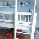 Hochbett Kinderzimmer Kinderzimmer Piratenhochbett Piratenbett Hochbett Kinderzimmer Debreuyn Regal Regale Weiß Sofa