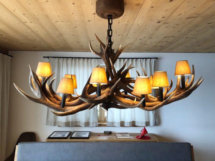 Medium Size of Deckenlampe Esstisch Essitsch Geweihlampe Designed By Oh My Deer Magefertigt Landhausstil Wohnzimmer Deckenlampen Shabby Chic Modern Ovaler Rund Mit Stühlen Esstische Deckenlampe Esstisch