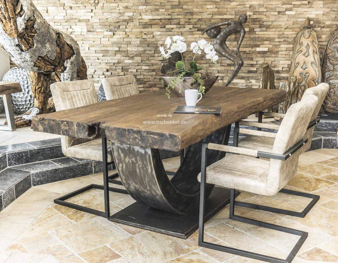 Large Size of Designer Esstisch Mit Massiver Tischplatte Der Tischonkel Nussbaum Esstische Holz Rustikal Grau 4 Stühlen Günstig Lampen Oval Weiß Industrial Esstische Designer Esstisch