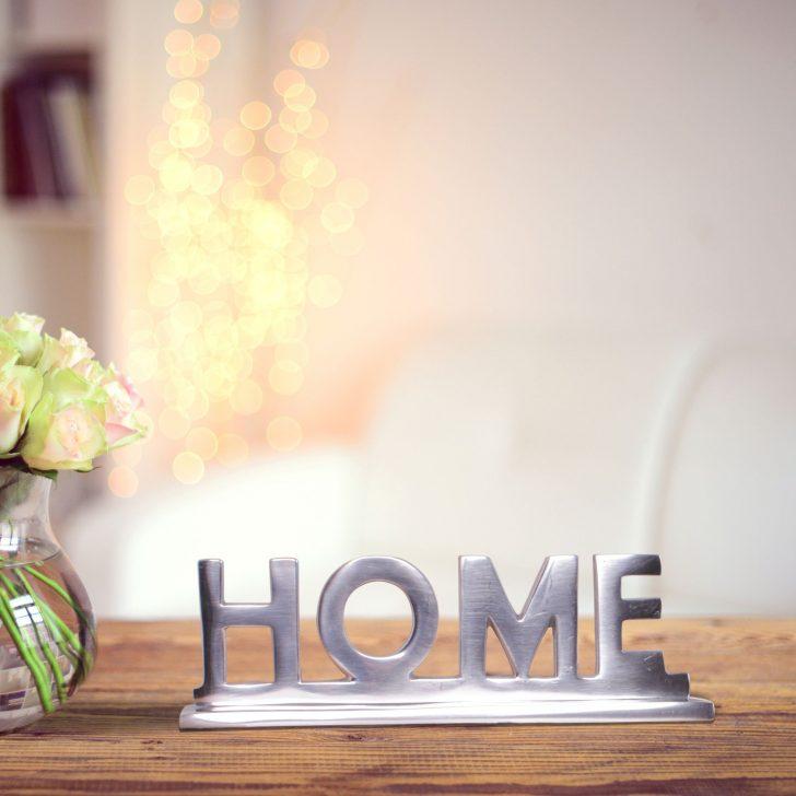 Medium Size of Finebuy Home Schriftzug Deko Wohnzimmer Tisch Dekoration Alu Stehlampen Hängeschrank Deckenleuchten Bilder Modern Sessel Pendelleuchte Großes Bild Fürs Wohnzimmer Dekoration Wohnzimmer