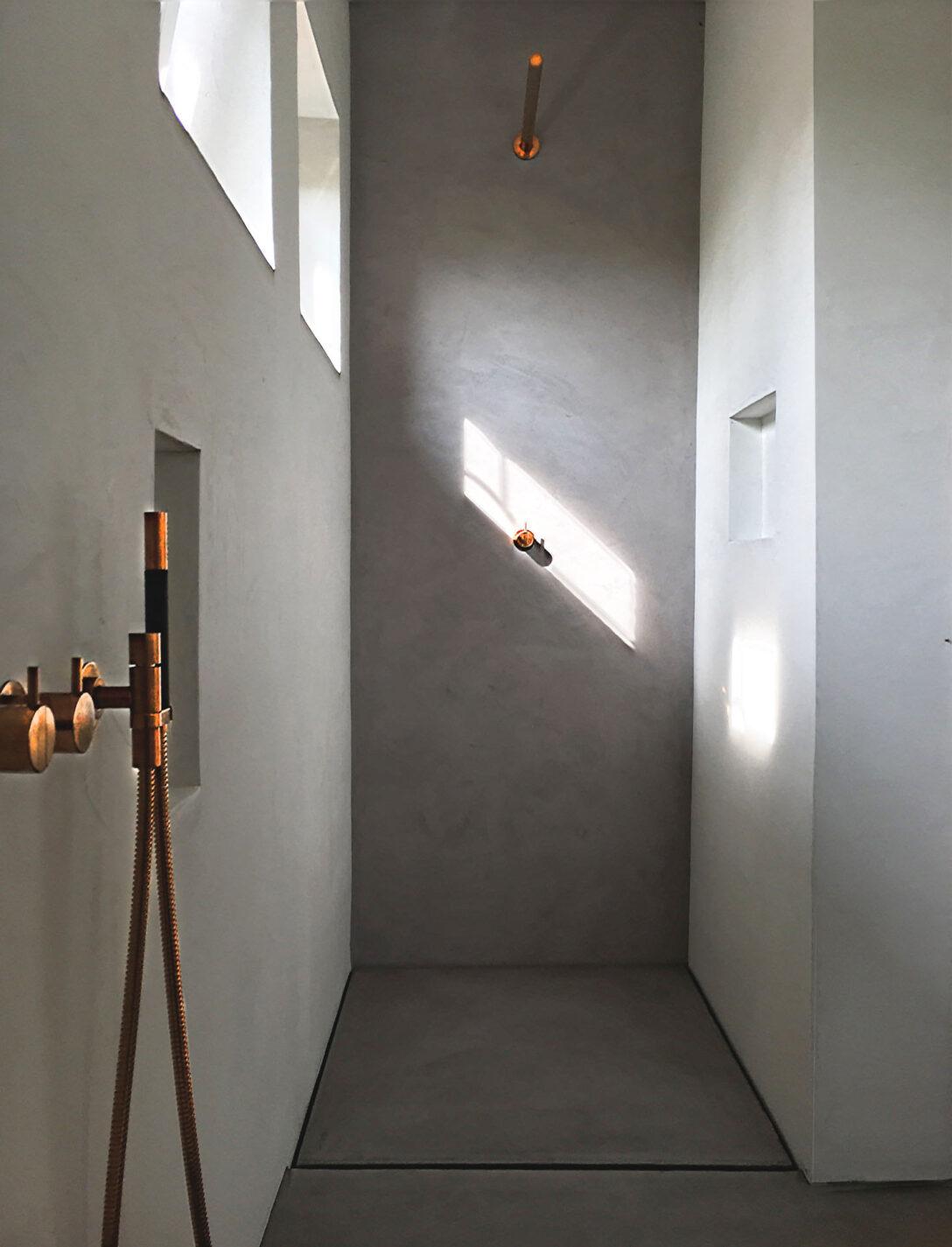 Large Size of Dusche Wand Beton Cire Design Raumkonzept Trier Lärmschutzwand Garten Nischentür Fliesen Für Küche Wandpaneel Glas Wandverkleidung Bett Bodengleiche Dusche Dusche Wand