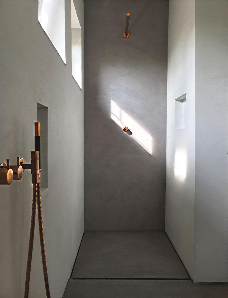 Medium Size of Dusche Wand Beton Cire Design Raumkonzept Trier Lärmschutzwand Garten Nischentür Fliesen Für Küche Wandpaneel Glas Wandverkleidung Bett Bodengleiche Dusche Dusche Wand