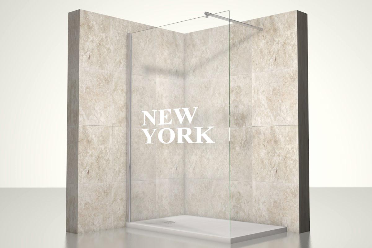 Full Size of Glaswand Dusche New York One Bath Abfluss Anal Schiebetür Badewanne Wand Rainshower Komplett Set Hüppe Bodenebene Mischbatterie Duschen Nischentür Dusche Glaswand Dusche