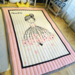 Teppiche Cartoon Kind Teppich Spiel Rosa Cute Japanese Regal Weiß Wohnzimmer Sofa Regale Kinderzimmer Kinderzimmer Teppiche