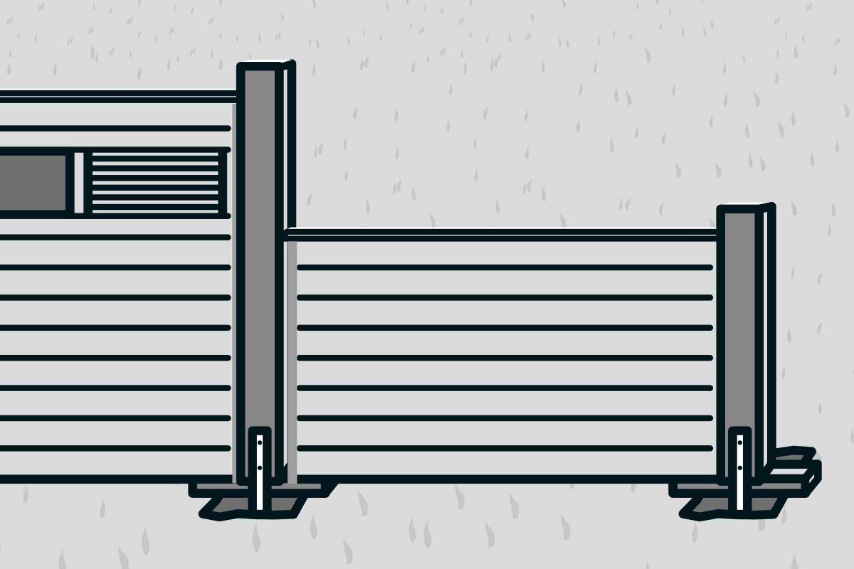 Full Size of Hornbach Sichtschutz Bauen Mit Zaunsystem Anleitung Von Sichtschutzfolien Für Fenster Sichtschutzfolie Einseitig Durchsichtig Garten Holz Im Wpc Wohnzimmer Hornbach Sichtschutz