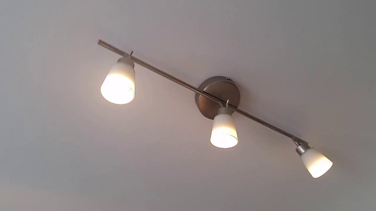 Full Size of Ikea Deckenlampe Deckenleuchte Basisk Mit 3 Spots Youtube Wohnzimmer Schlafzimmer Deckenlampen Für Küche Kosten Esstisch Betten 160x200 Miniküche Bad Kaufen Wohnzimmer Ikea Deckenlampe