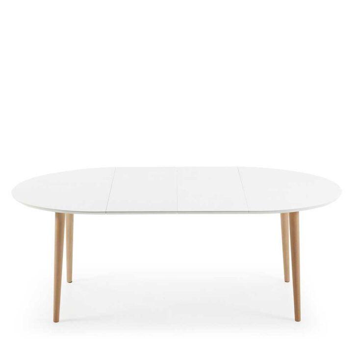 Medium Size of Esstisch Weiß Oval Ausziehtisch In Wei Und Buchefarben Ovale Tischform Tisch Kaufende Sofa Rustikaler Ausziehbar Bett 140x200 Badezimmer Hochschrank 90x200 Esstische Esstisch Weiß Oval