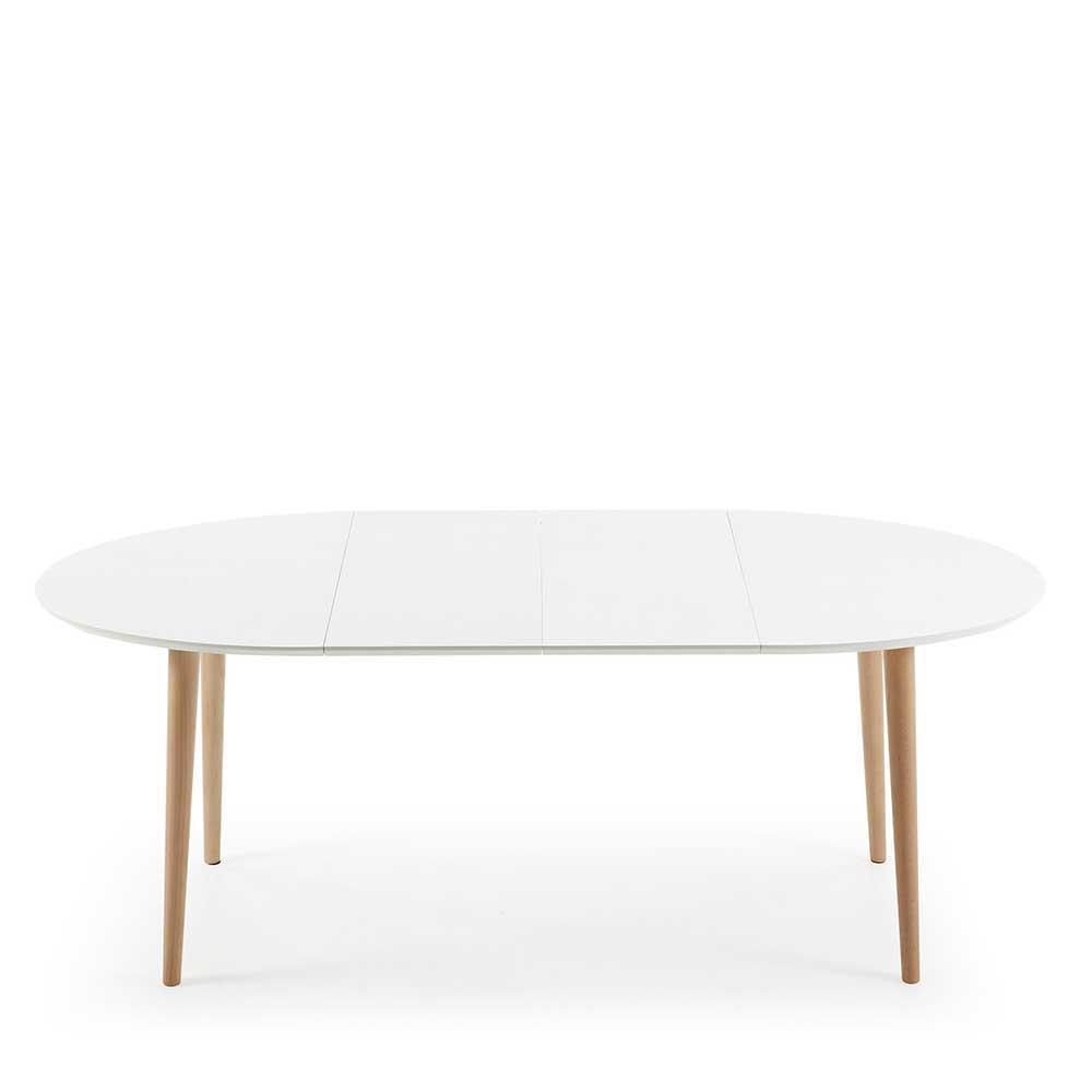 Full Size of Esstisch Weiß Oval Ausziehtisch In Wei Und Buchefarben Ovale Tischform Tisch Kaufende Sofa Rustikaler Ausziehbar Bett 140x200 Badezimmer Hochschrank 90x200 Esstische Esstisch Weiß Oval