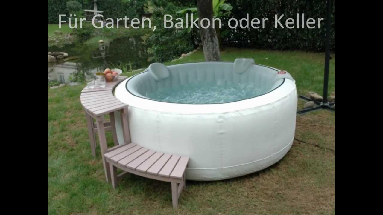 Full Size of Whirlpool Aufblasbar Fr Garten Balkon Oder Keller Youtube Wohnzimmer Whirlpool Aufblasbar