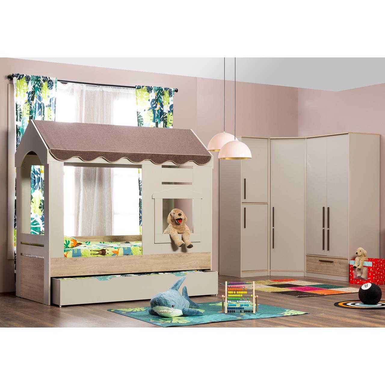 Full Size of Kinderzimmer Orion 5 Tlg Mit Spielbett Traum Mbelcom Eckschrank Küche Bad Regale Schlafzimmer Regal Weiß Sofa Kinderzimmer Eckschrank Kinderzimmer