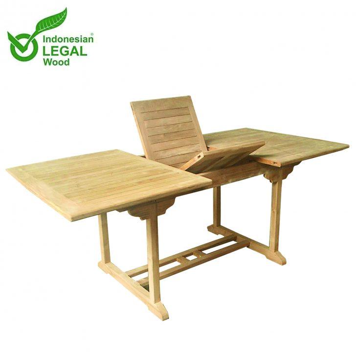 Medium Size of Gartentisch Holz Ausziehbar Xxxl Teak Tisch 210 160 110 75 Cm Alu Fenster Preise Modulküche Holzregal Küche Bett Massivholz Schlafzimmer Betten Wohnzimmer Gartentisch Holz Ausziehbar