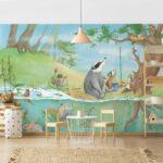 Wandbild Kinderzimmer Kinderzimmer Wandbild Kinderzimmer Selbstklebende Tapete Ein Fahrstuhl Fr Elsa Wandbilder Wohnzimmer Sofa Regal Weiß Schlafzimmer Regale