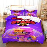 Brawl Stars Sandy Bettwsche Set Steppdeckenberzug Mit Teenager Betten Bettwäsche Sprüche Für Wohnzimmer Bettwäsche Teenager