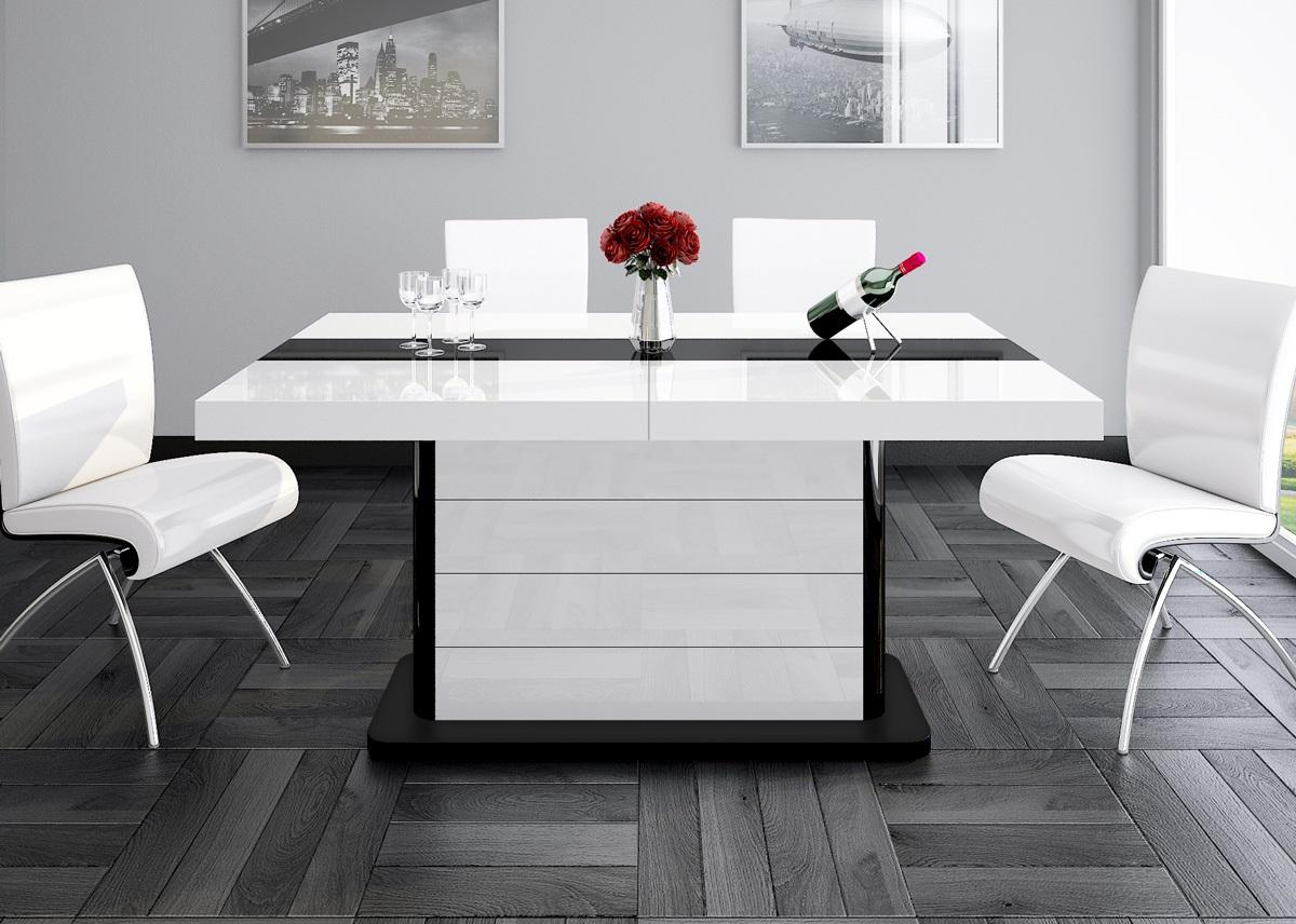 Full Size of Esstisch Weiß Ausziehbar Design Tisch He 555 Wei Schwarz Hochglanz Ausziehbarer Runder Esstischstühle Badezimmer Hochschrank Eiche Massiv Großer Esstische Esstische Esstisch Weiß Ausziehbar