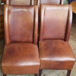 Esstischstühle Esstische Esstischstühle Satz Ledersthle Esstischsthle Leder Gut Erhalten