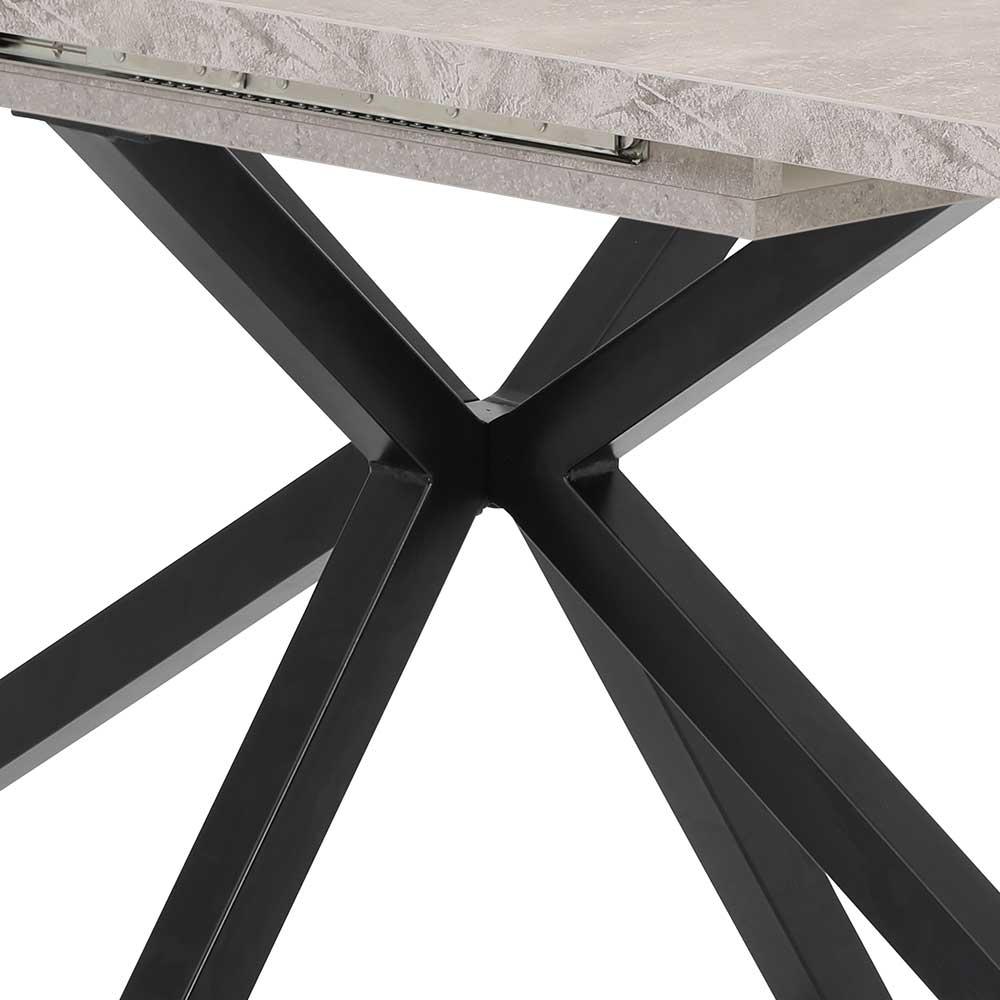 Full Size of Esstisch Grau In Schwarz Und Beton Mittelauszug Tisch Kaufende Esstischstühle Ovaler Esstische Massivholz Rund Ausziehbar Betonplatte Kaufen Oval Deckenlampe Esstische Esstisch Grau