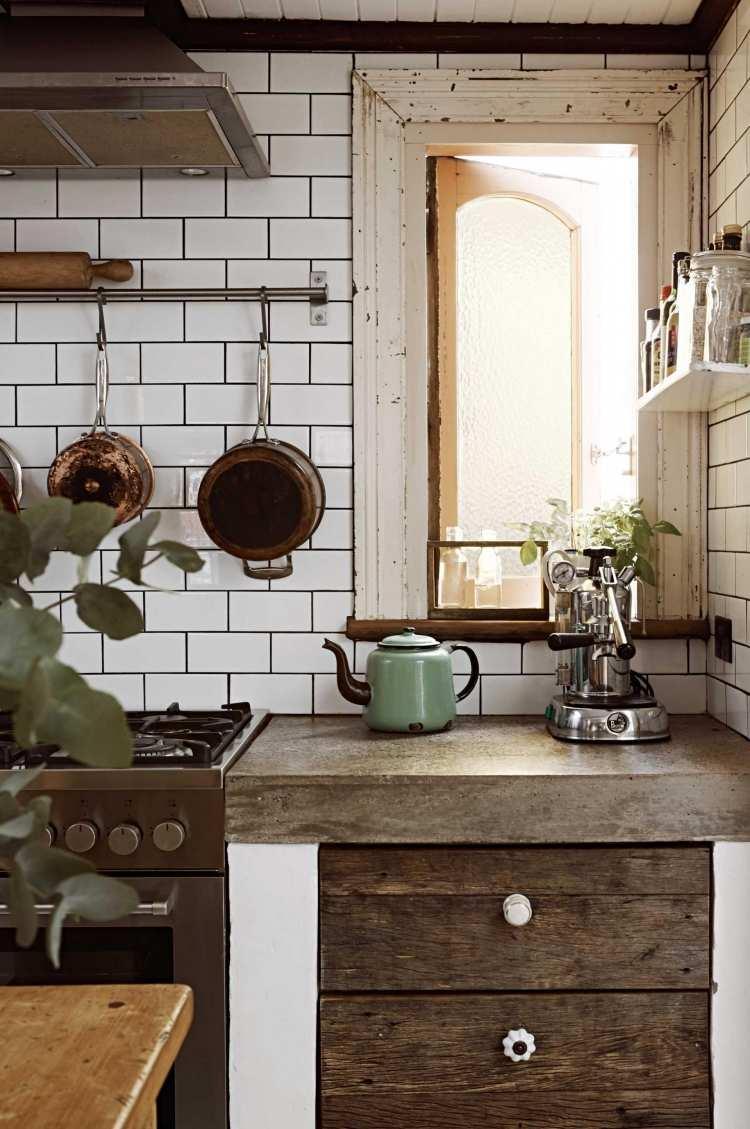 Full Size of Küchen Ideen 27 Kchen Rustikale Kche Mit Modernen Elementen Wohnzimmer Tapeten Bad Renovieren Regal Wohnzimmer Küchen Ideen