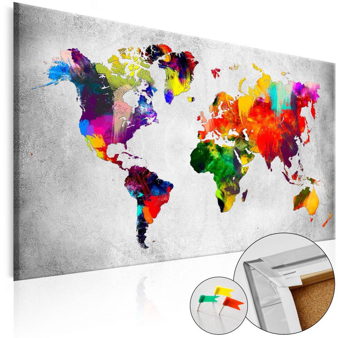Large Size of Dekorative Pinnwand Coloured Revolution Cork Map Bilder Moderne Esstische Küche Modern Weiss Esstisch Deckenlampen Wohnzimmer Modernes Bett 180x200 Wohnzimmer Pinnwand Modern