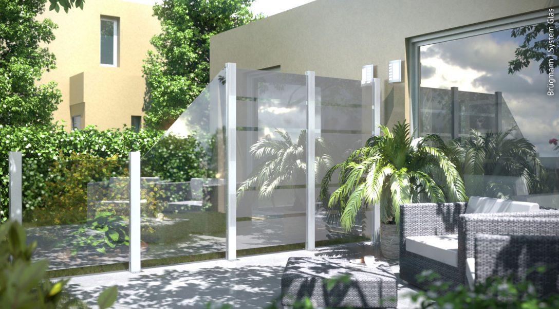 Large Size of Sichtschutz Garten Modern Glaszune Als Moderner Im Holz Roeren Gmbh Spielhaus Sichtschutzfolien Für Fenster Stapelstuhl Bewässerungssysteme Beistelltisch Wohnzimmer Sichtschutz Garten Modern