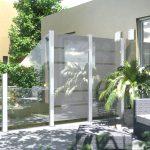 Sichtschutz Garten Modern Glaszune Als Moderner Im Holz Roeren Gmbh Spielhaus Sichtschutzfolien Für Fenster Stapelstuhl Bewässerungssysteme Beistelltisch Wohnzimmer Sichtschutz Garten Modern