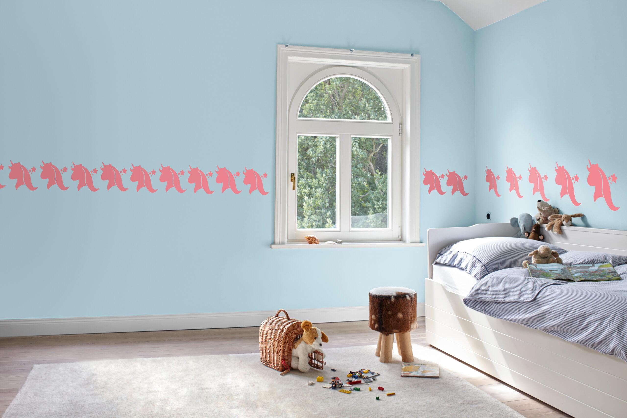 Full Size of Wandschablonen Kinderzimmer Diy Frs Das Einhorn An Der Wand Sofa Regal Weiß Regale Kinderzimmer Wandschablonen Kinderzimmer