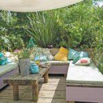 Terrassen Lounge Mediterrane Garten Terrasse Sofakissen Son Loungemöbel Günstig Möbel Set Sofa Sessel Holz Wohnzimmer Terrassen Lounge