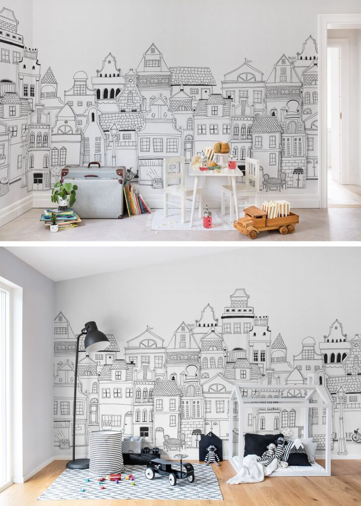 Medium Size of Kinderzimmer Wanddeko London Houses Tapete Küche Sofa Regal Regale Weiß Kinderzimmer Kinderzimmer Wanddeko