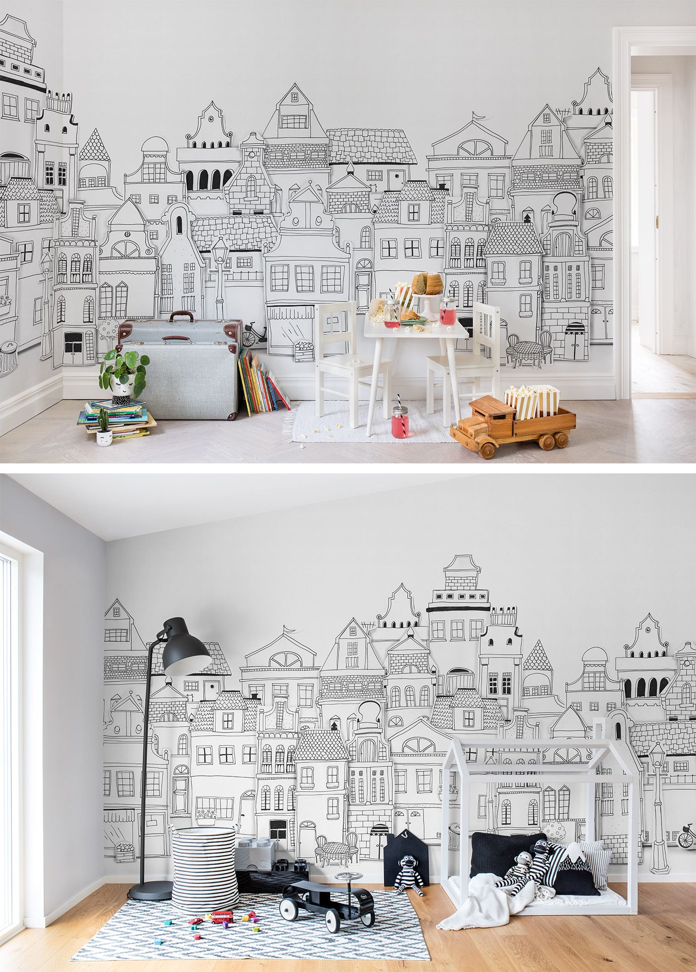 Full Size of Kinderzimmer Wanddeko London Houses Tapete Küche Sofa Regal Regale Weiß Kinderzimmer Kinderzimmer Wanddeko