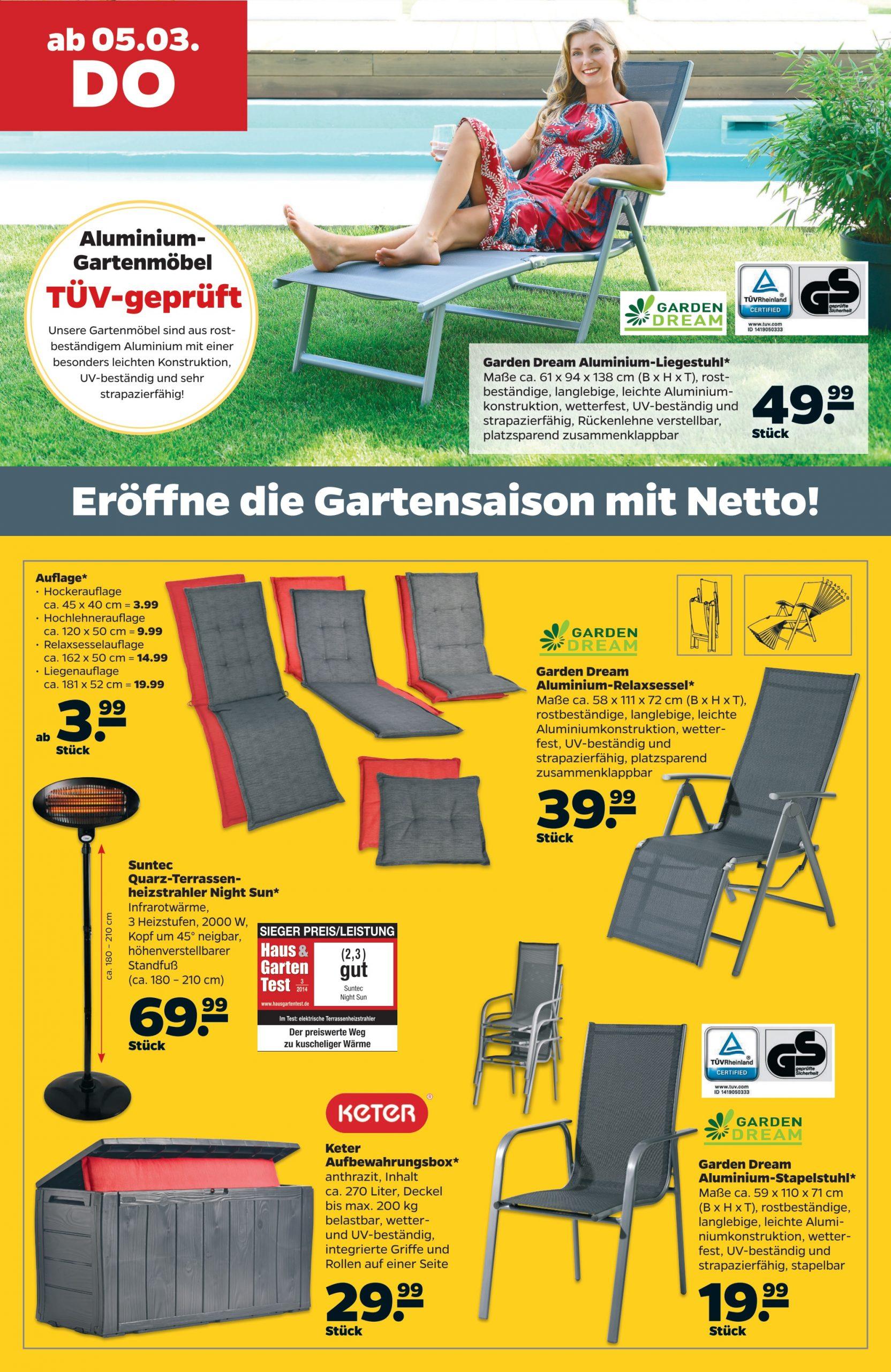 Full Size of Garden Dream Aluminium Liegestuhl Im Angebot Bei Netto Kupinode Garten Relaxsessel Aldi Wohnzimmer Liegestuhl Aldi