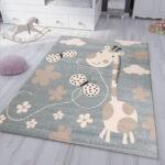 Teppiche Kinderzimmer Kinderzimmer Teppiche Kinderzimmer Teppich In Mint Blau Giraffe Schmetterling Ceres Regal Weiß Sofa Regale Wohnzimmer