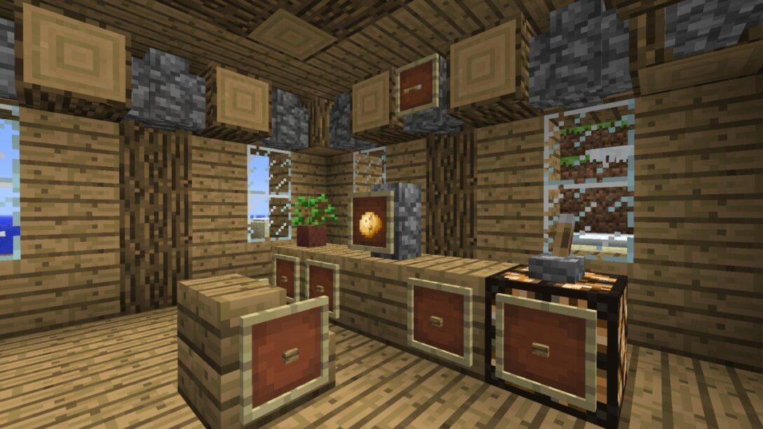 Large Size of Minecraft Küche Esstisch Bar Coole Kche Ideen Fr Groe Rume Interieur Wandpaneel Glas Günstig Kaufen Weiß Matt Büroküche U Form Lüftungsgitter Sitzbank Wohnzimmer Minecraft Küche