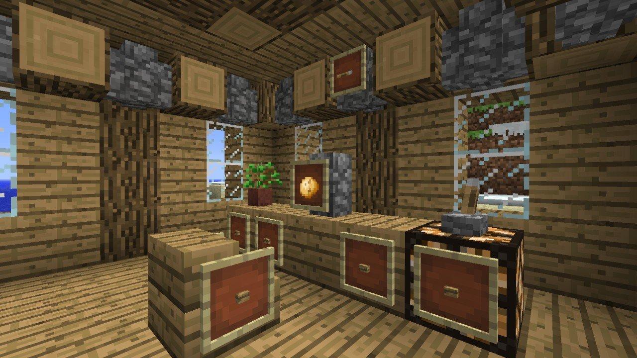 Full Size of Minecraft Küche Esstisch Bar Coole Kche Ideen Fr Groe Rume Interieur Wandpaneel Glas Günstig Kaufen Weiß Matt Büroküche U Form Lüftungsgitter Sitzbank Wohnzimmer Minecraft Küche