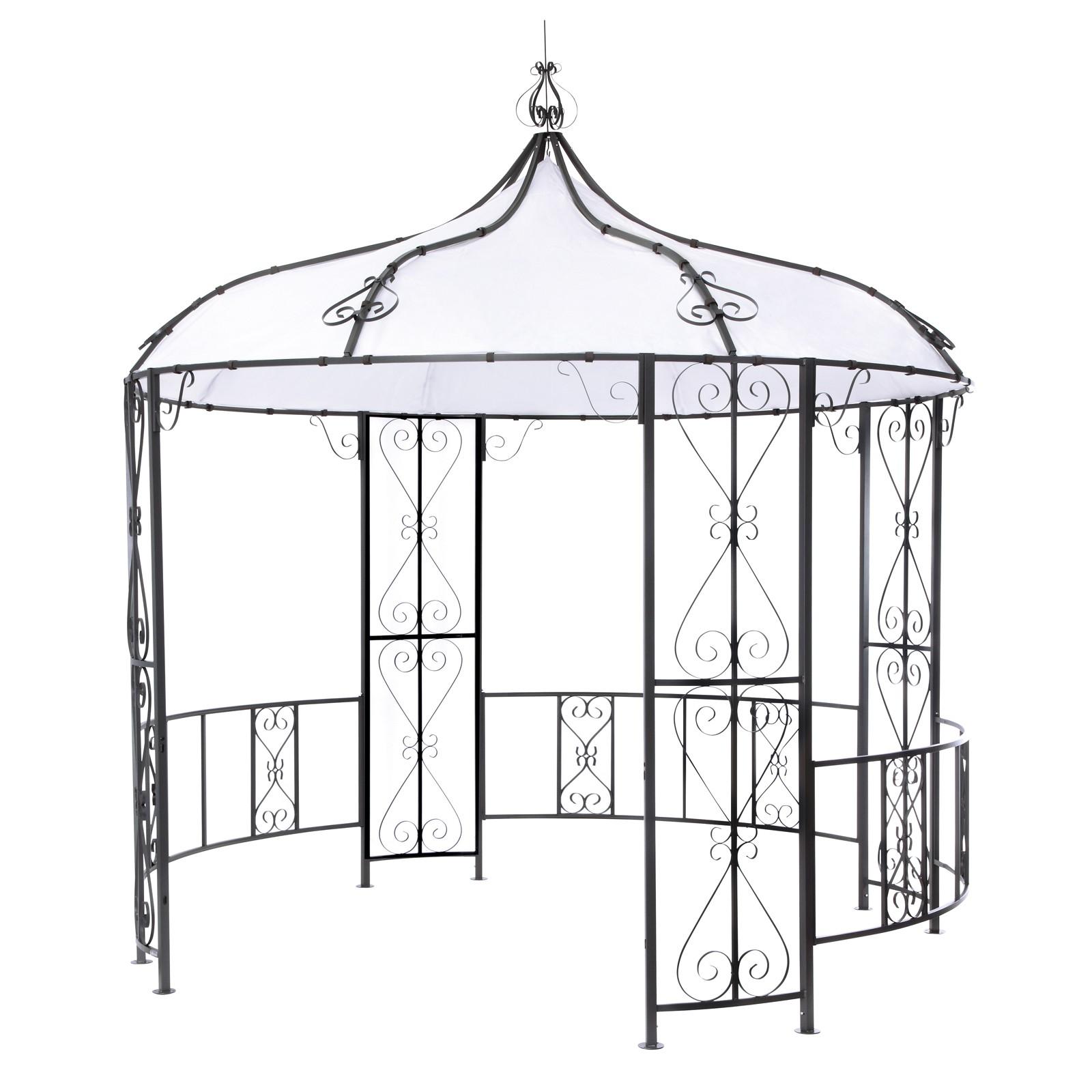 Full Size of Pavillon Rund Metall Gebraucht Ersatzdach Beige 3 5m Durchmesser Holz 6m 4 M 3m Pool Geschlossen Selber Bauen 2 200 Cm Mit Dach 4m Tepro Rowa Gartenpavillon Wohnzimmer Pavillon Rund