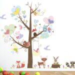 Wandtattoo Kinderzimmer Tiere Kinderzimmer Wandtattoo Tiere Bunter Baum Mit Liebe Herzform Bltter Cartoon Sprüche Wandtattoos Wohnzimmer Bad Regal Schlafzimmer Weiß Regale Küche Sofa