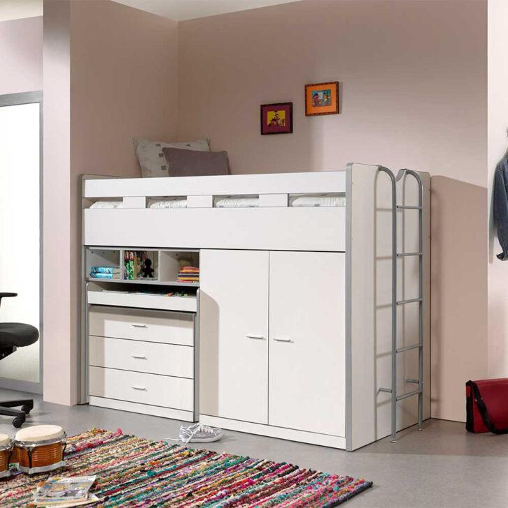 Medium Size of Kinderzimmer Hochbett Kermita In Wei Mit Schreibtisch Und Schrank Regal Weiß Sofa Regale Kinderzimmer Kinderzimmer Hochbett