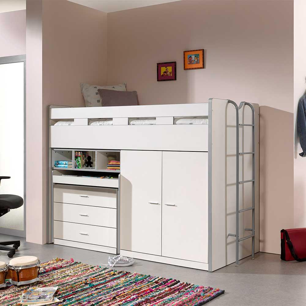 Full Size of Kinderzimmer Hochbett Kermita In Wei Mit Schreibtisch Und Schrank Regal Weiß Sofa Regale Kinderzimmer Kinderzimmer Hochbett