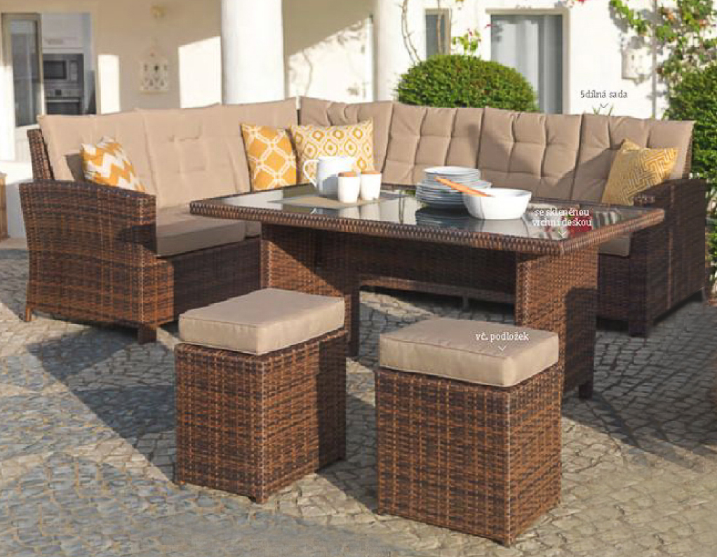 Full Size of Luxus Ecklounge 5 Teilig Gartenmbel Rattan Garten Eck Sofa Lounge Loungemöbel Günstig Möbel Holz Sessel Set Wohnzimmer Terrassen Lounge