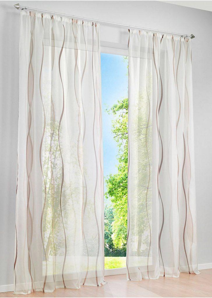 Medium Size of Bonprix Gardinen Transparente Gardine In Zeitlosem Design Creme Braun Scheibengardinen Küche Fenster Betten Für Die Schlafzimmer Wohnzimmer Wohnzimmer Bonprix Gardinen